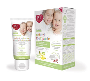 SPLAT Baby Toothpaste for children 0 - 3 years 40 ml apple - banana + finger cover - mydrxm.com