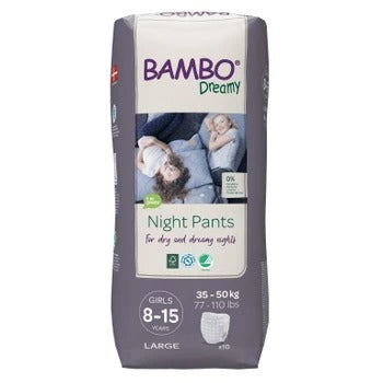 Bambo Dreamy Night Pants Girls 8-15 years 35-50 kg night diaper panties 10 pcs