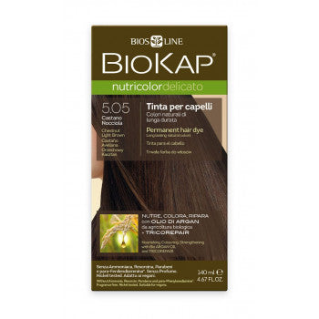 BIOKAP Nutricolor Delicato 5.05 Brown Light Chestnut hair color 140 ml - mydrxm.com