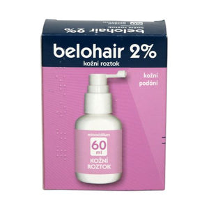 Belohair 2% skin hair loss treatment solution 60 ml - mydrxm.com