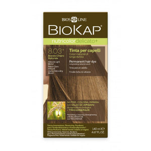 BIOKAP Nutricolor Delicato Plus 8.03 Blond light natural hair color 140 ml - mydrxm.com