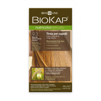 BIOKAP Nutricolor Delicato 9.3 Blond light golden hair color 140 ml - mydrxm.com