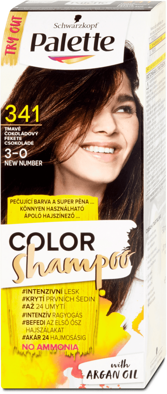 Schwarzkopf Hair Color Shampoo Chocolate 341, 70 ml