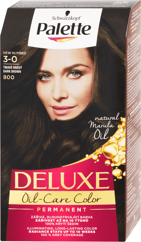 Schwarzkopf Palette Deluxe Hair color Dark Brown 800 / 3-0, 130 ml
