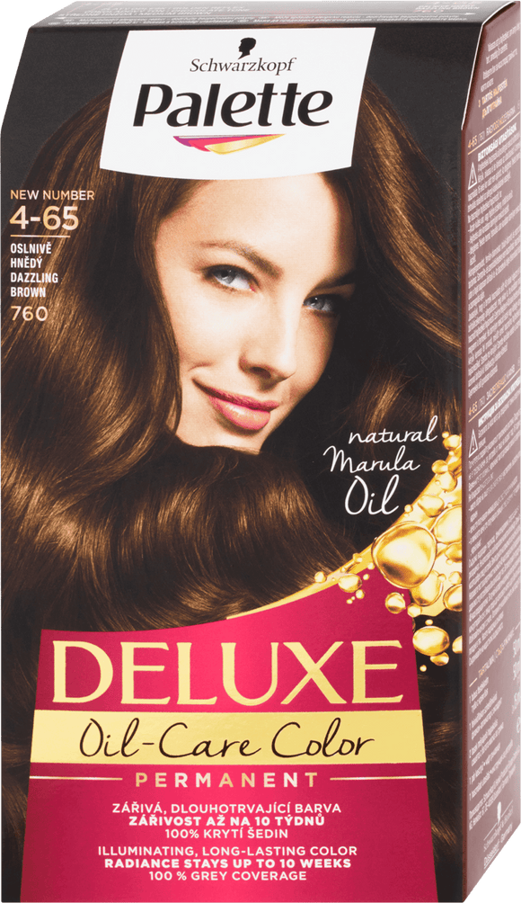 Schwarzkopf Palette Deluxe Hair Color Dazzling Brown 760 / 4-65, 130 ml