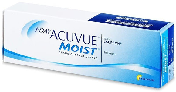 Acuvue Moist 1 Day 30 contact lenses
