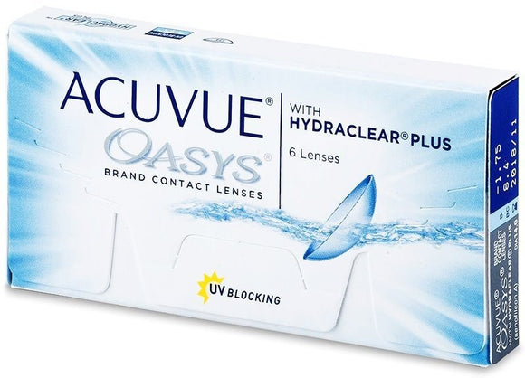 Acuvue Oasys with Hydraclear Plus 6 contact lenses
