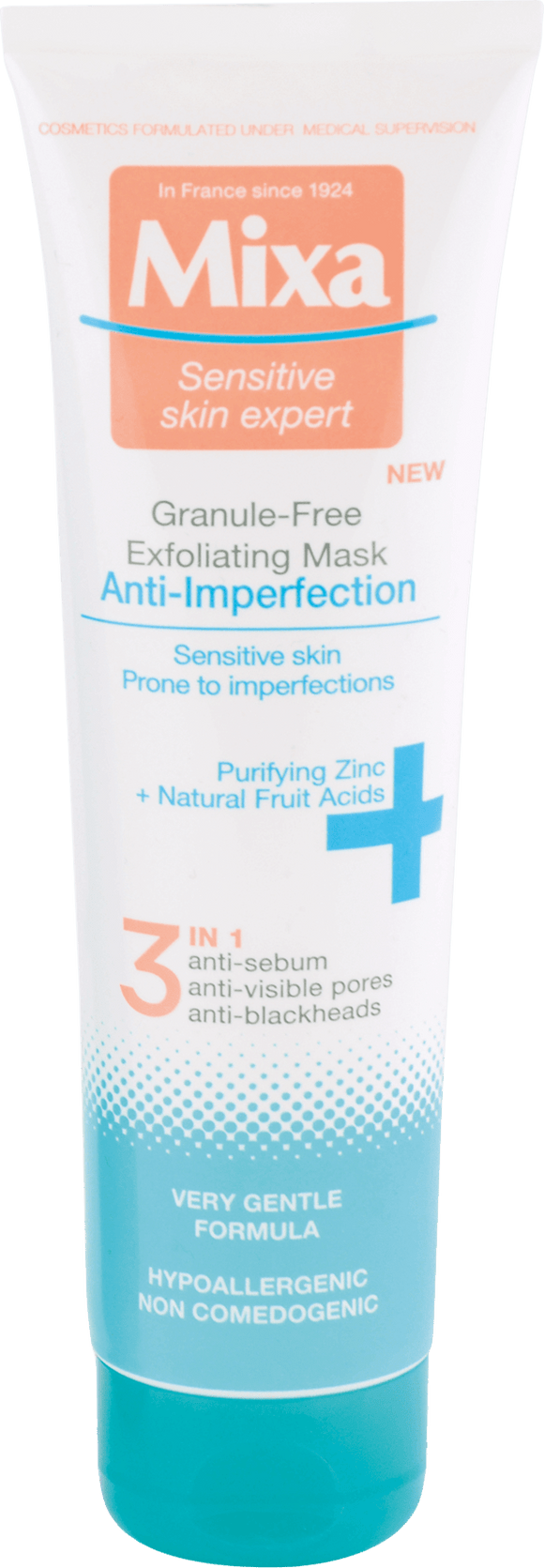 Mixa Anti Imperfection cleaning exfoliating mask anti black dots pores 150 ml - mydrxm.com