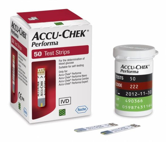 Accu-Chek Performa Sugar Test Strips 50 pcs - mydrxm.com