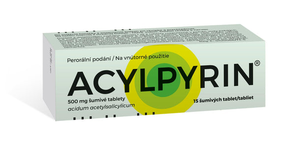 Acylpyrin 500 mg 15 effervescent tablets pain relief - mydrxm.com