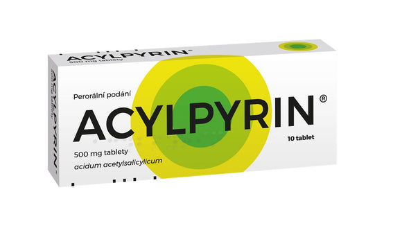 Acylpyrin 10 tablets pain relief and reduce fever - mydrxm.com