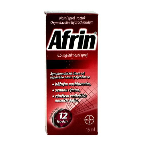 Afrin 0.5 mg / ml nasal spray 15 ml - mydrxm.com