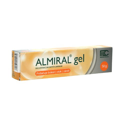 Almiral gel 50 g pain, swelling and inflammation post-traumatic tendons, ligaments, muscles and joints - mydrxm.com