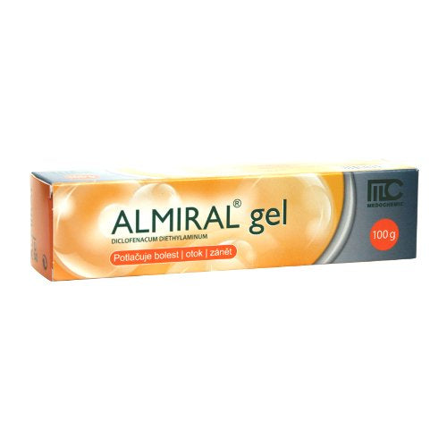Almiral gel 100 g pain, swelling and inflammation post-traumatic tendons, ligaments, muscles and joints - mydrxm.com