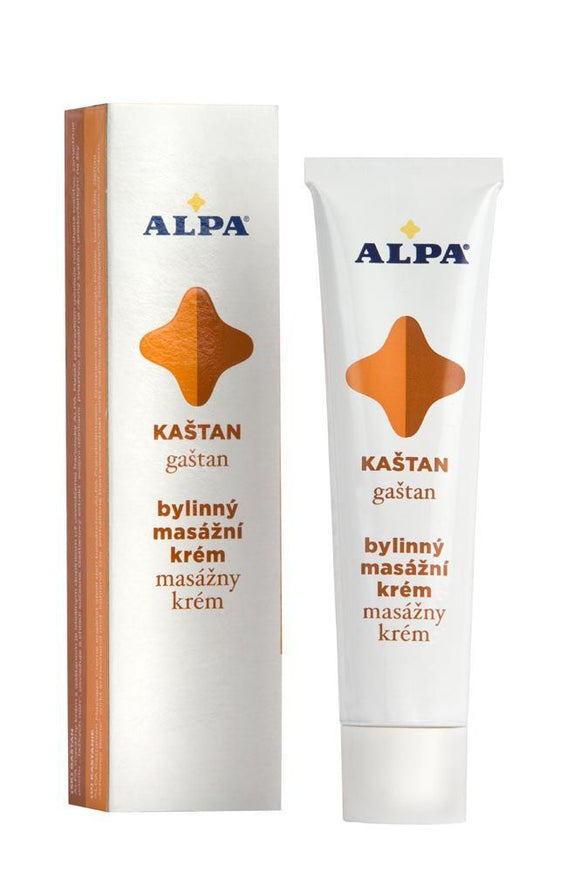 Alpa massage cream with chestnut 40 ml relieves stressed muscles. - mydrxm.com