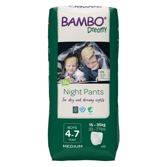 Bambo Dreamy Night Pants Boys 4-7 years 15-35 kg night diaper panties 10 pcs