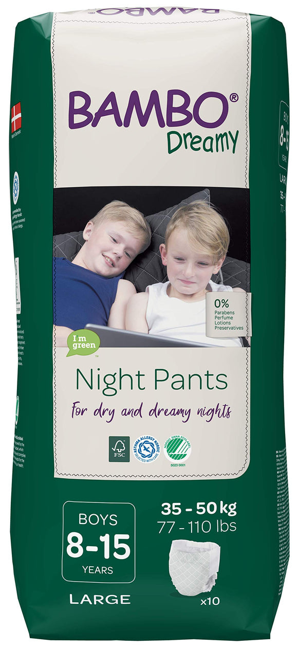 Bambo Dreamy Night Pants Boys 8-15 years 35-50 kg night diaper panties 10 pcs