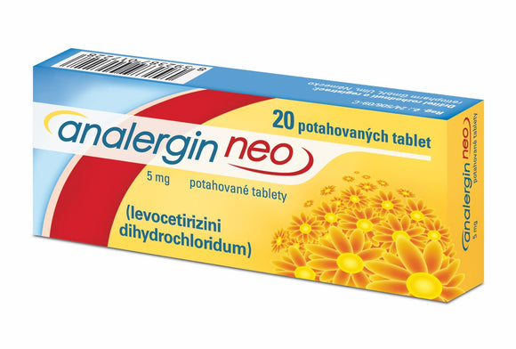 Analergin Neo 5 mg 20 tablets allergy treatment - mydrxm.com