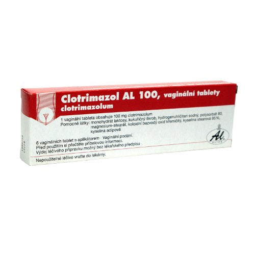 Clotrimazole AL 100 6 vaginal tablets + applicator - mydrxm.com