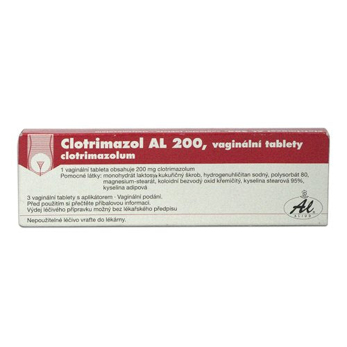 Clotrimazole AL 200 3 vaginal tablets + applicator - mydrxm.com