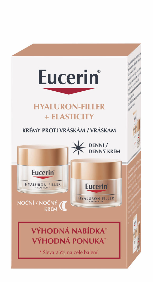 Eucerin Hyaluron-Filler + Elasticity duopack Day and Night Cream - mydrxm.com