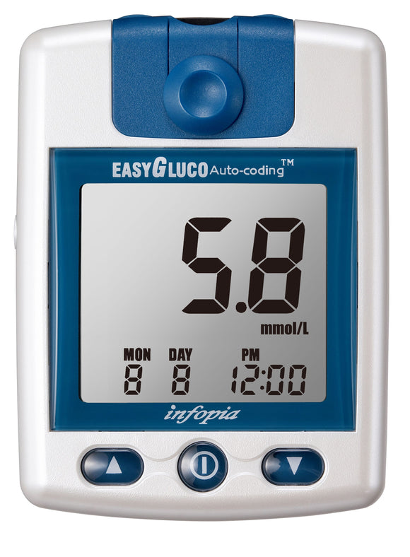 Easygluco Glucometer with 25 test strips + 25 lancets - mydrxm.com