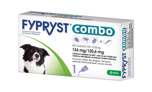 Fypryst Combo spot-on fleas ticks & worms treatment 10-20 kg large dogs 1.34 ml - mydrxm.com