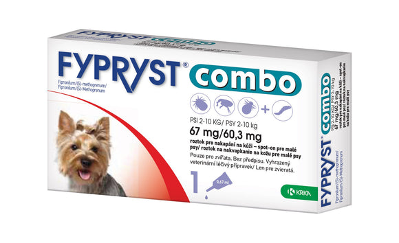 Fypryst Combo spot-on fleas ticks & worms treatment 2-10 kg small dogs 0.67 ml - mydrxm.com