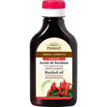 Green Pharmacy Burdock oil with chili peppers for hair growth 100 ml - mydrxm.com
