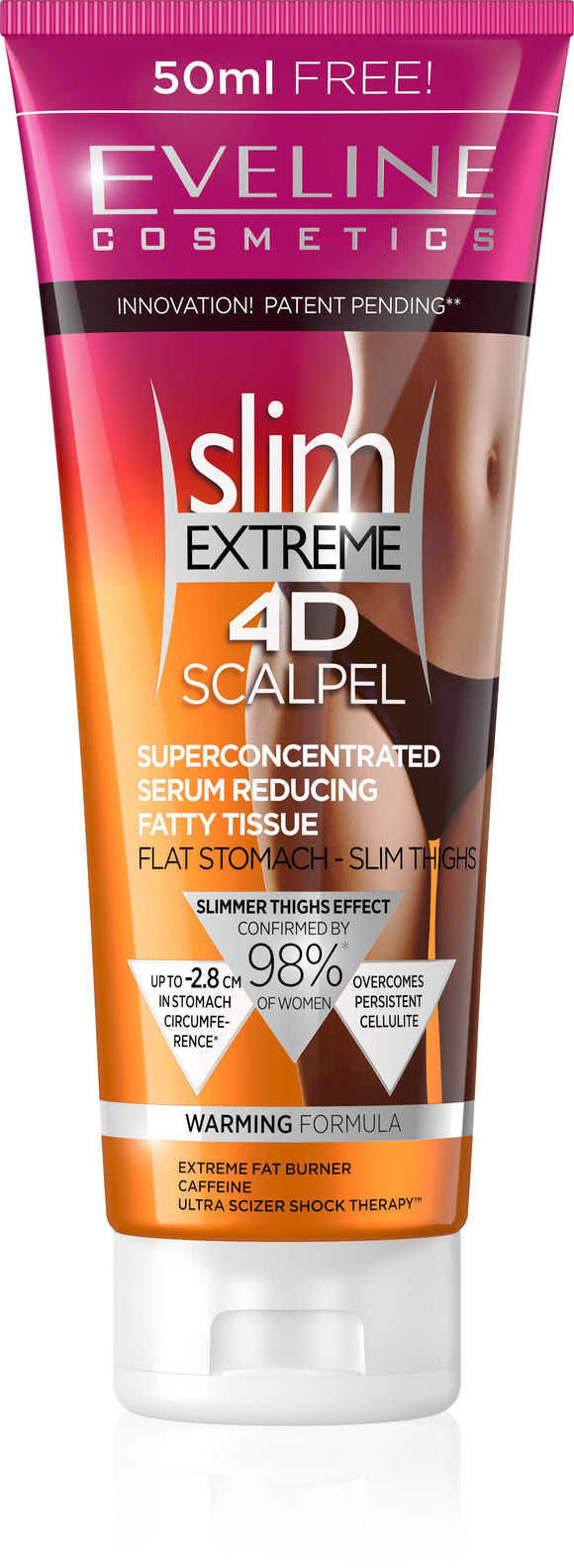 Eveline Slim EXTREME 4D Scalpel Super Concentrated Fat Reducing Serum 250 ml - mydrxm.com