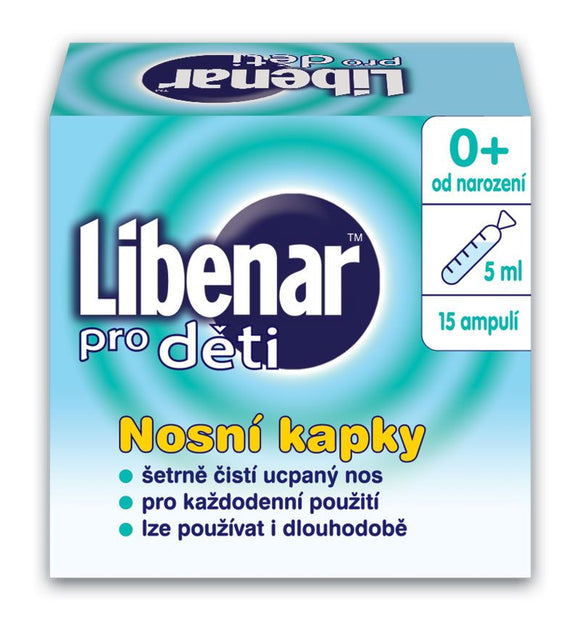 Libenar for children 15 ampoules of 5ml Nasal Drops - mydrxm.com
