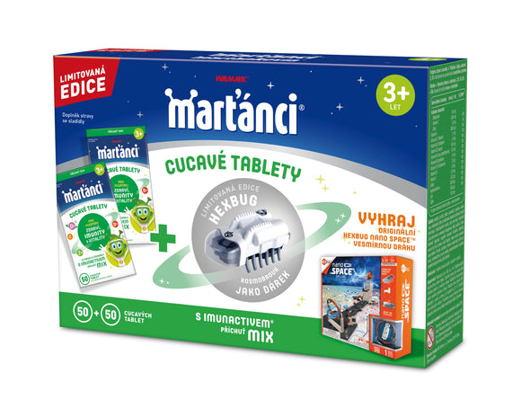 Martians with Immunactive Mix 50 + 50 Tablets + Hex bug toy free - mydrxm.com