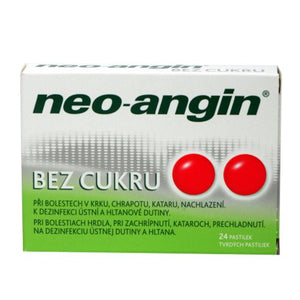 NEO-ANGIN WITHOUT SUGAR 24 tablets - mydrxm.com