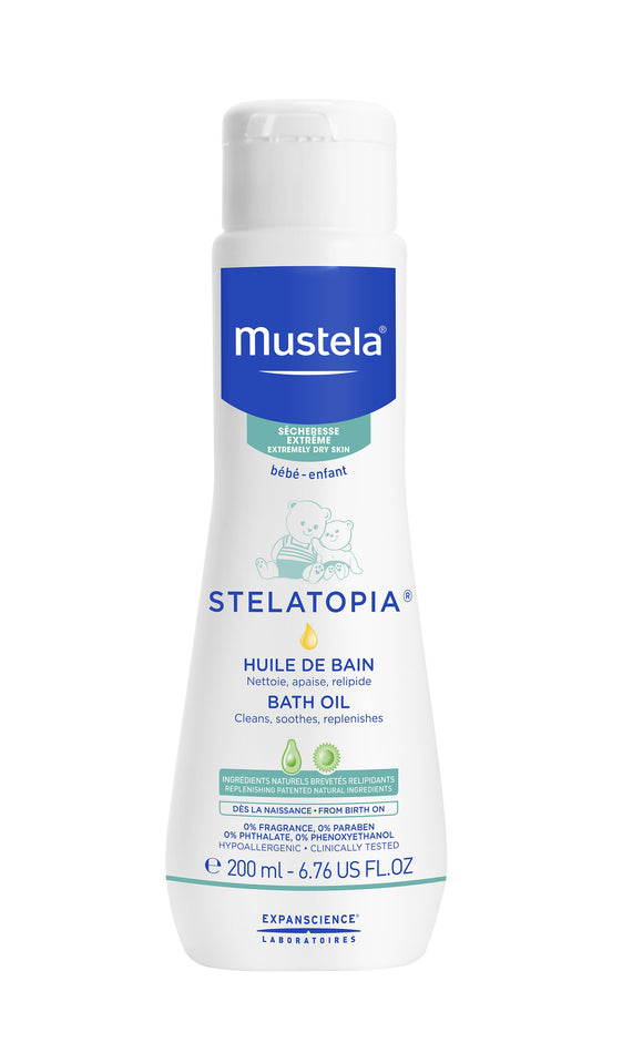 Mustela STELATOPIA bath oil for eczematic skin 200 ml - mydrxm.com