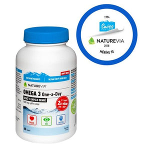 Swiss NatureVia Omega 3 One a Day 60 capsules