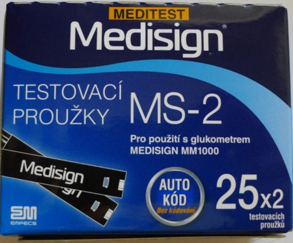 Meditest Medisign MS-2 Test Strips 50 pcs - mydrxm.com