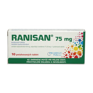 Ranisan 75 mg 10 film-coated tablets - mydrxm.com