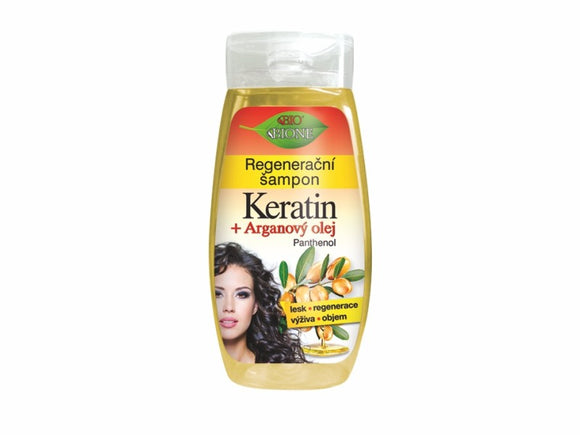 BIONE Regenerating shampoo KERATIN + ARGAN OIL 260 ml