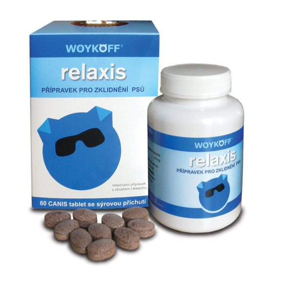 Woykoff Relaxis cheese flavor 60 tablets Calming for Dogs - mydrxm.com