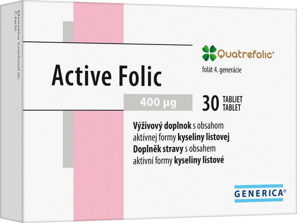 Quatrefolic Active Folic Acid Vitamins B9 400 μg 30 tablets for pregnant women - mydrxm.com