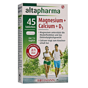 Magnesium + Calcium + D3 vitamins 45 tablets food diet supplement - mydrxm.com