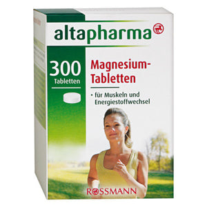 Magnesium vitamins 300 tablets food diet food supplement made in Germany - mydrxm.com