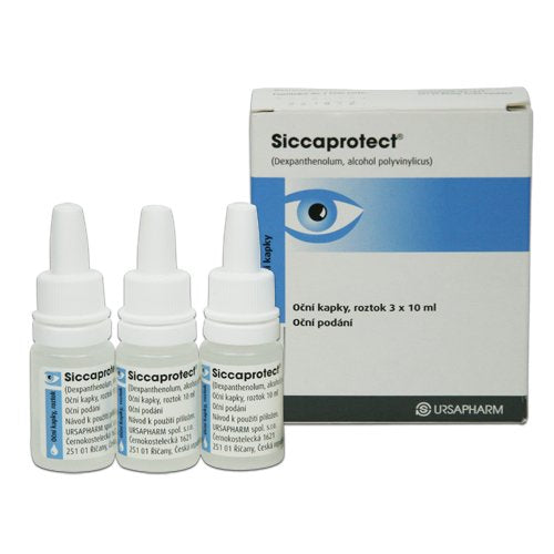 Siccaprotect eye drops 3 x 10 ml - mydrxm.com