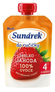 5 x Sunárek Apple Strawberry Puree 100 g