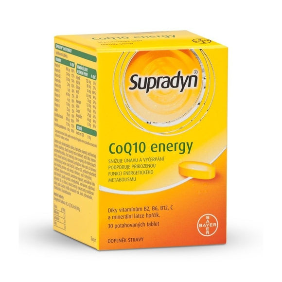 Bayer Supradyn CoQ10 tablets Energy, 30 pcs - mydrxm.com