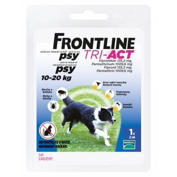 Frontline Tri-Act dogs 10-20 kg spot-on 1 pipette - mydrxm.com