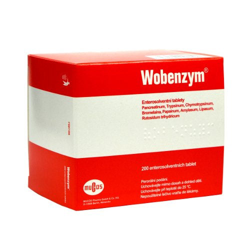 Mucos Wobenzym against inflammation 200 tablets - mydrxm.com