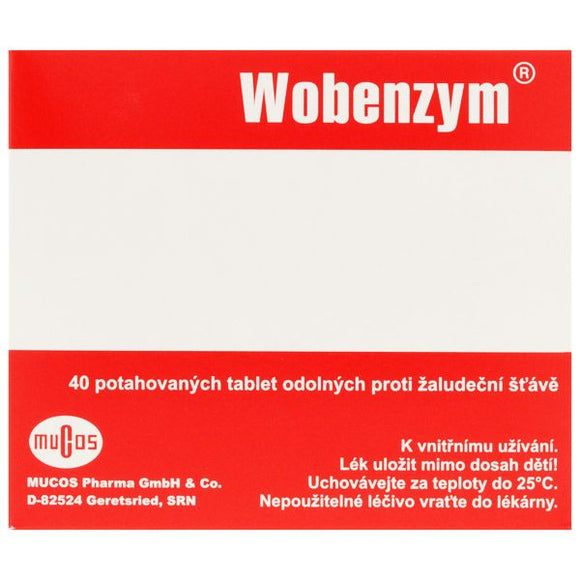 Mucos Wobenzym against inflammation 40 tablets - mydrxm.com