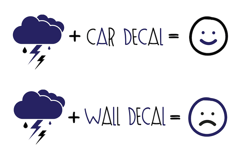 Car Decals vs. Wall Decals - What's the difference?
