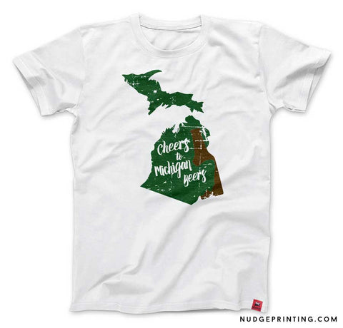 Cheers to Michigan Beers T-shirt White
